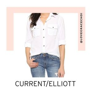 "Current Elliott | The ""Perfect"" Shirt in Sugar"